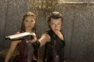 Claire e Alice em Resident Evil 4: Recomeço