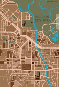 mapa de raccoon city