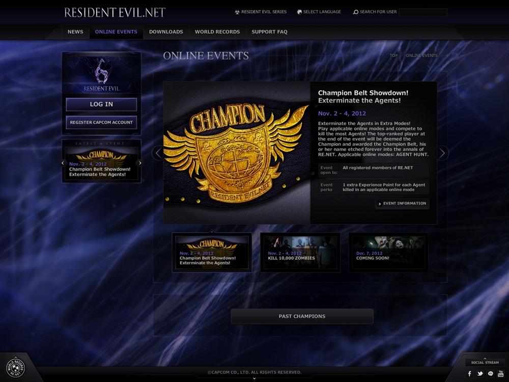 Capcom anuncia rede social para Resident Evil 6