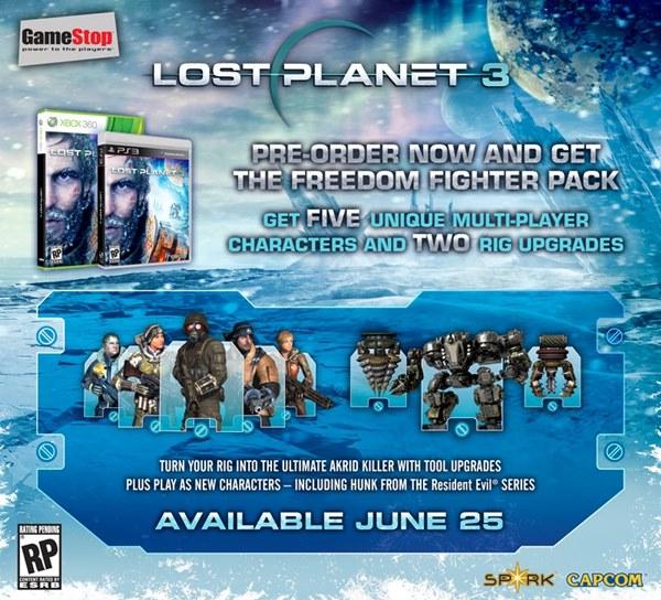HUNK vai estar em Lost Planet 3