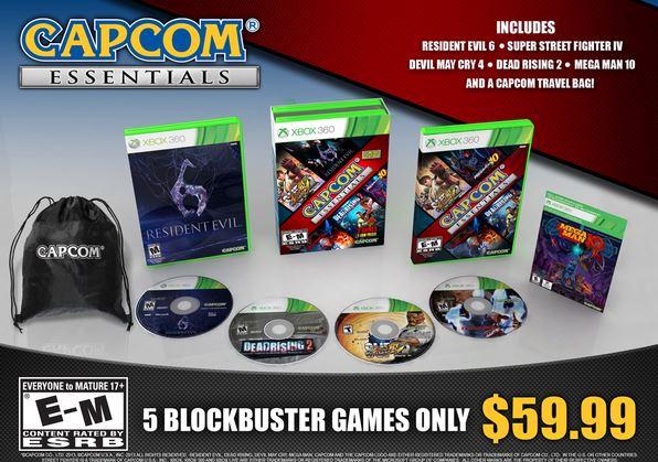 Pacote Capcom Essentials chega em 8 de outubro